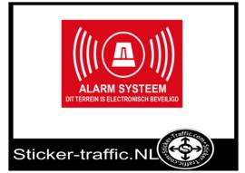 Terrein is beveiligd met alarm systeem sticker