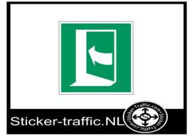 Richting nooduitgang links pijl sticker