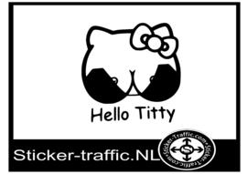 Hello titty sticker