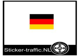 Duitse vlag sticker