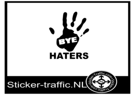 Bye haters stickers