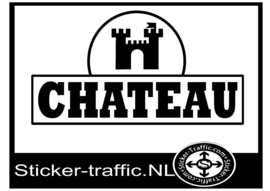 Chateau met logo full colour sticker