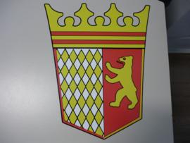 Tabbert logo fullcolour sticker  28 cm hoog x 23cm breed, geel rood