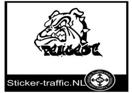 Peugeot bulldog sticker