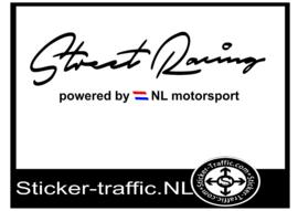 NL vlag gekleurd Street Racing Sticker
