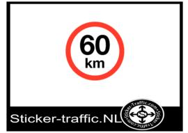 60 km sticker