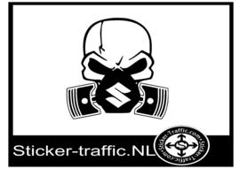 Suzuki skull sticker