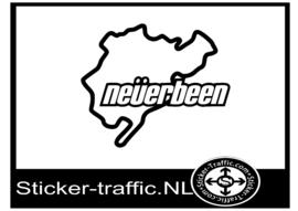 Neverbeen circuit sticker