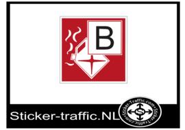 Brandklasse B sticker