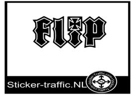 Flip skateboard sticker