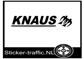 Knaus met logo caravan sticker