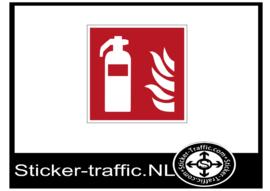 Brandblusser sticker