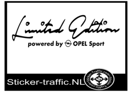 OPEL Limited Edition Sticker