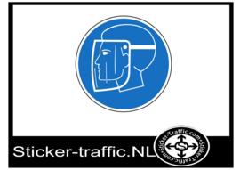 Gelaatsbescherming sticker
