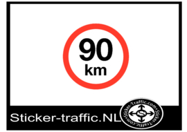 90 km sticker