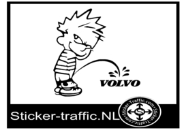 Calvin Volvo sticker