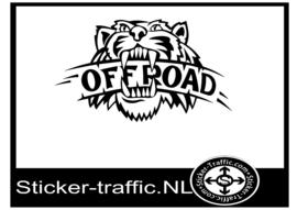 Offroad tijger sticker