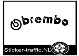 BREMBO rond remklauw sticker