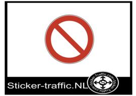 Algemeen verbod sticker