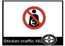Geen toegang bij zwangerschap sticker