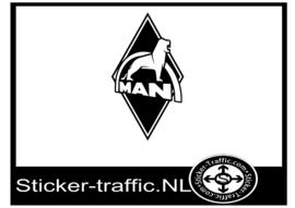Man design 1 sticker