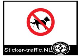 Hond laten plassen verboden sticker