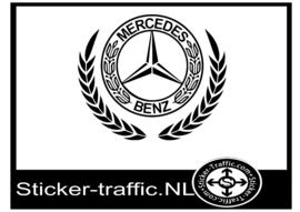 Mercedes logo design 3 sticker