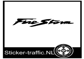 Honda firestorm sticker