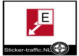 Brandklasse E sticker