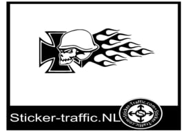 Iron cross vlam sticker