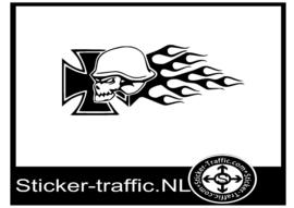 Iron cross vlam sticker