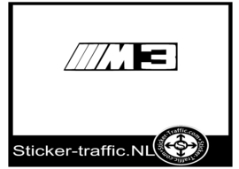 M3 logo sticker
