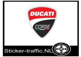 Ducati Corse Fullcolour Sticker 8cm hoog