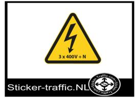 Elektriciteit 3 x 400 + N sticker
