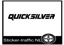 Quicksilver sticker 70 mm hoog x 520 mm breed