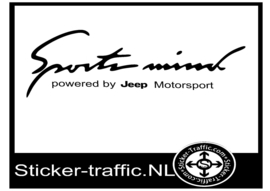 JEEP Sports Mind Sticker