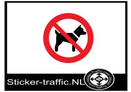 Hond uitlaten verboden sticker