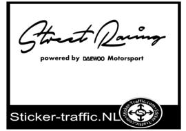 DAEWOO Street Racing Sticker