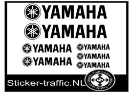 Yamaha set stickers Tank, Motor Sticker set van 7 stickers