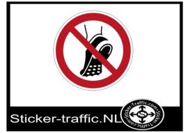 Metalen noppen verboden sticker