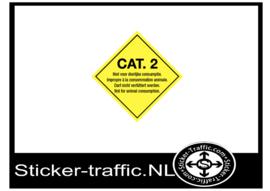 Categorie 2 niet voor dierlijke consumptie sticker