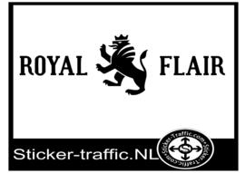 Royal Flair caravan sticker