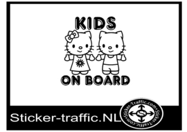 Kids on board design 17 sticker