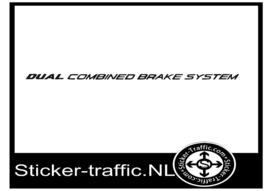 Dual combined brake sticker 7mm hoog x 30 cm breed