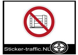 Goederen plaatsen verboden sticker