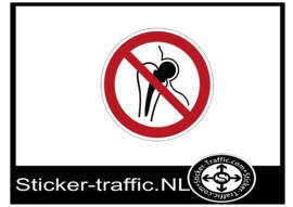 Implantaten verboden sticker