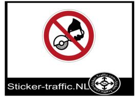 Handmatig slijpen verboden sticker