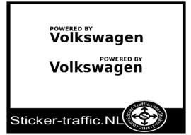 Powered by volkswagen set van 2 stickers
