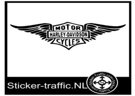 Harley Davidson wing sticker
