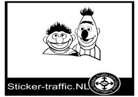 Ernie & Bert sticker